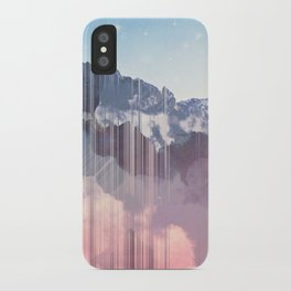 Glitched Mountains iPhone Case