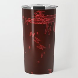 Abstract red virus cells Travel Mug