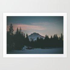 Frozen Mirror Lake Art Print
