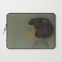 Odilon Redon - Young Woman in Profile Laptop Sleeve