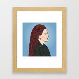 Lana Portrait Framed Art Print