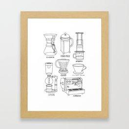 Coffee Brewing Framed Art Print