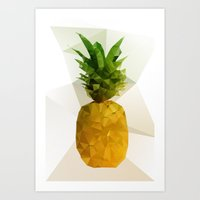 pineapple Art Prints featuring Pineapple by Three of the Possessed