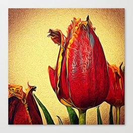 Frilly Tulips Canvas Print