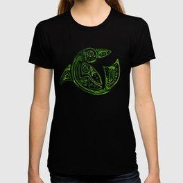 Dauphin tatouage tribal vert en rond -green tatoo dolphin T-shirt