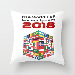 Russia - FIFA World CUP 2018 - Model 1 Throw Pillow