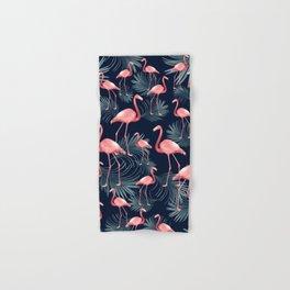 Summer Flamingo Palm Night Vibes #1 #tropical #decor #art #society6 Hand & Bath Towel