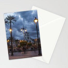 Sundown, Plaza Mayor Merida Spain Stationery Cards