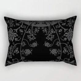 floral ornaments pattern bgr Rectangular Pillow