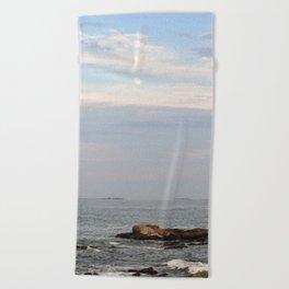 The Moon Over the Ocean Beach Towel