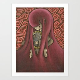 Ghost Kiss Art Print