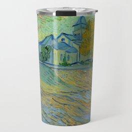 """Vincent van Gogh """"Vue de l'asile et de la Chapelle de Saint-Rémy"""" Travel Mug"""