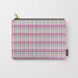 Pink and Pastel Plaid Carry-All Pouch