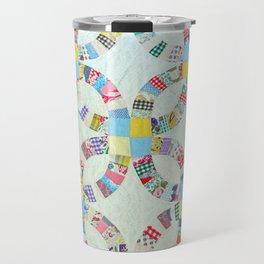 Colorful quilt pattern Travel Mug