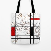 maps Tote Bags featuring MIX MAPS by MehrFarbeimLeben