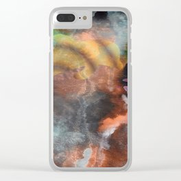 Abstract Art Under the Sea Clear iPhone Case