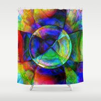 kandinsky Shower Curtains featuring  Every New Beginning Comes From Some Other Beginnings' End 4 by Mark Compton