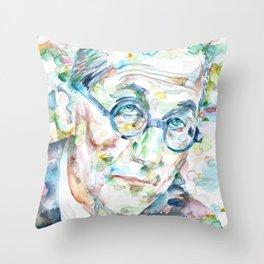 LE CORBUSIER - watercolor portrait Throw Pillow