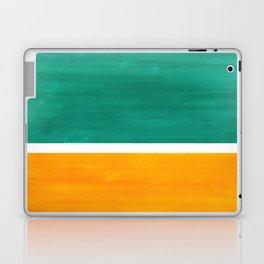 Colorful Bright Minimalist Rothko Minimalist Midcentury Art Marine Green Gold Vintage Pop Art Laptop & iPad Skin