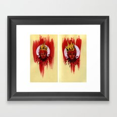Red Portrait Diptych Framed Art Print