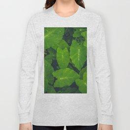 Beautiful green leaves in macro Long Sleeve T-shirt