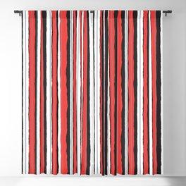 Strawberry Jiggle Stripes Blackout Curtain