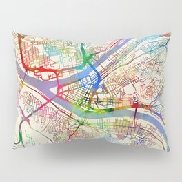 Pittsburgh Pennsylvania Street Map Pillow Sham