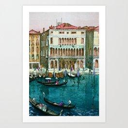 Yoshida Hiroshi - Canals In Venice - Digital Remastered Edition Art Print