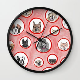 The Dog Show Wall Clock
