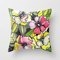 55/365 Floral Throw Pillow