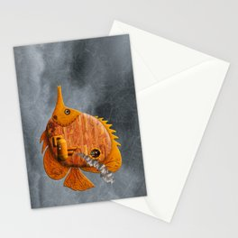 Steampunk Butterflyfish II Stationery Cards