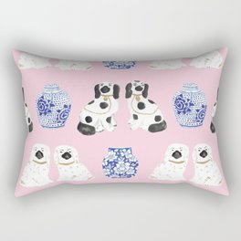 Staffordshire Dogs + Ginger Jars No. 4 Rectangular Pillow