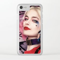 Margot Robbie as Harley Quinn Digital Painting - Suicide Squad Clear iPhone Case
