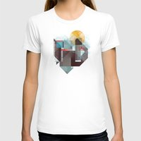river T-shirts featuring Over mountains by Efi Tolia
