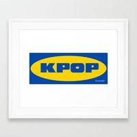 kpop Framed Art Prints featuring Blue KPOP by Factorialist