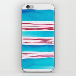 11  |181026 Lines & Color Block | Watercolor Abstract | Modern Watercolor Art iPhone Skin