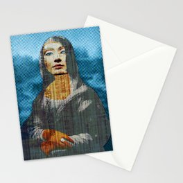 Nona Lifretéte in blue · CropCircle Stationery Cards