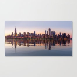 Panorama of the City skyline of Chicago Canvas Print