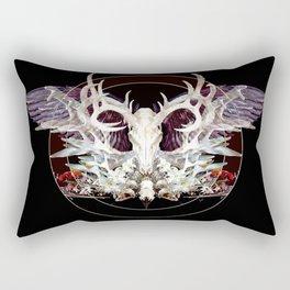 Deer And Crow Skulls Double Image Rectangular Pillow