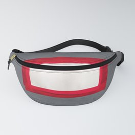 Red White Grey Fanny Pack
