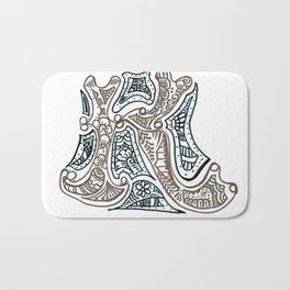 "26. Henna Letters of the Alphabet "" K "" Bath Mat"