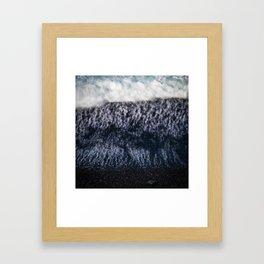Black Pebble Beach Framed Art Print