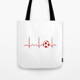 SOCCER HEARTBEAT Tote Bag