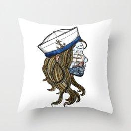 sailor girl Throw Pillow