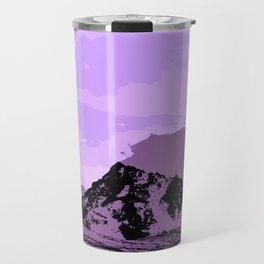 Chugach Mountains - EggPlant Pop Art Travel Mug