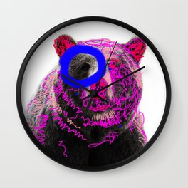 Don't mess with a bear! Wall Clock