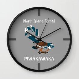 Piwakawaka | Fantail | New Zealand bird Wall Clock