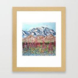 Denali Fireweed Framed Art Print