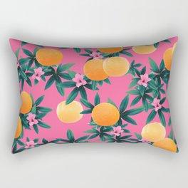 Orange Twist Flower Vibes #1 #tropical #fruit #decor #art #society6 Rectangular Pillow