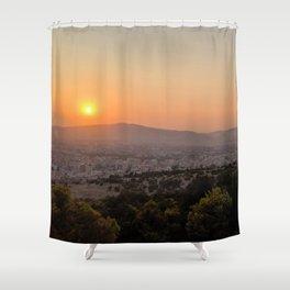 Warm Landscape Shower Curtain